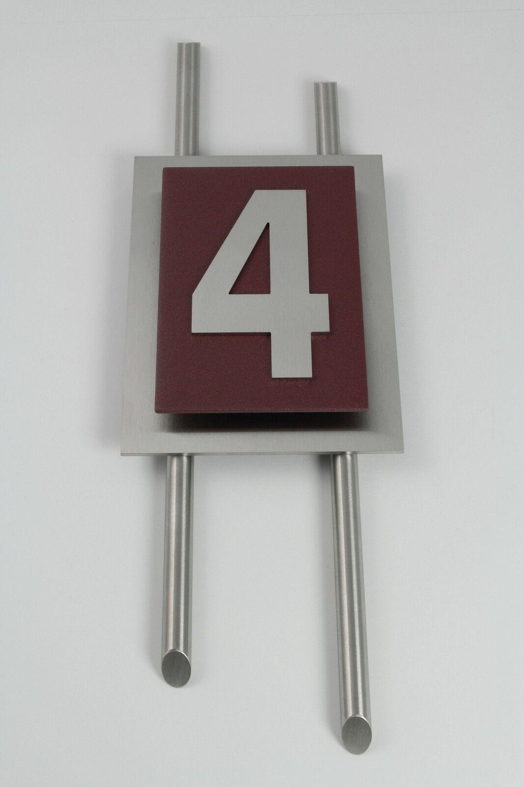 Hausnummer Edelstahl Bordeaux Zahl 1-9 1-9 1-9 V2A Design Verona 1-stellig Zierstangen | Verschiedene Waren  | Neue Produkte im Jahr 2019  | Vorzüglich  8e4056