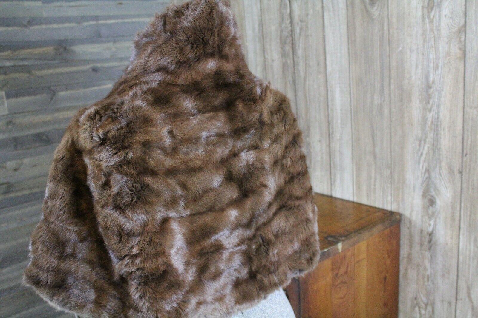 Vintage Goldblatt's Fur Shaw Stole Brown Mink Old… - image 10
