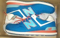 New Balance Men's The Core Suede Mesh 574 Sneaker in Grey Sneakers Shoes