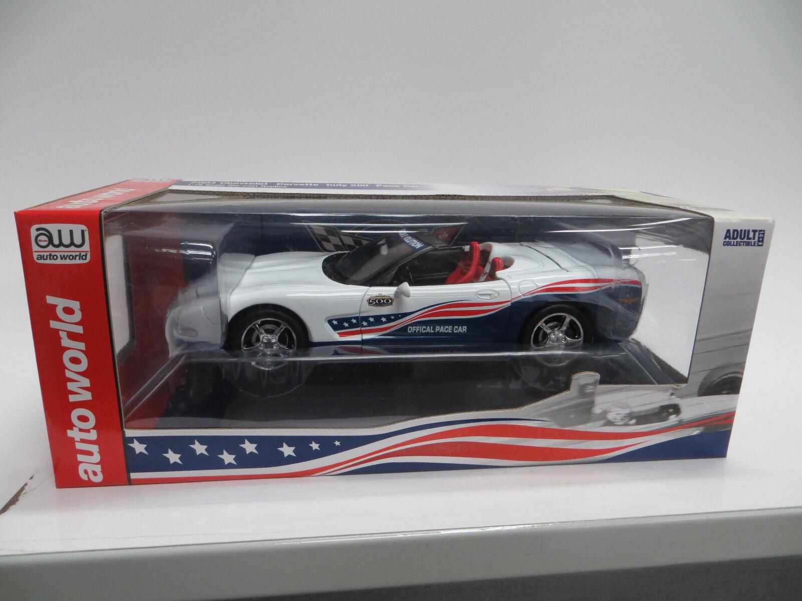 AUTO WORLD 2004 CHEVY CORVETTE INDY 500 PACE CAR CAR CAR 1 18 SCALE- NEW 2d3b13