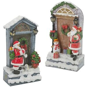 DEL-Light-up-Noel-Festif-Pere-Noel-Neige-porte-Scene-Display-Decoration