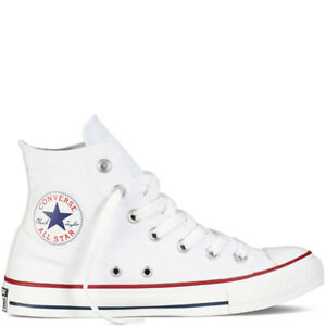 Converse-All-Star-scarpe-uomo-donna-alte-Chuck-Taylor-optical-white-tela-canvas