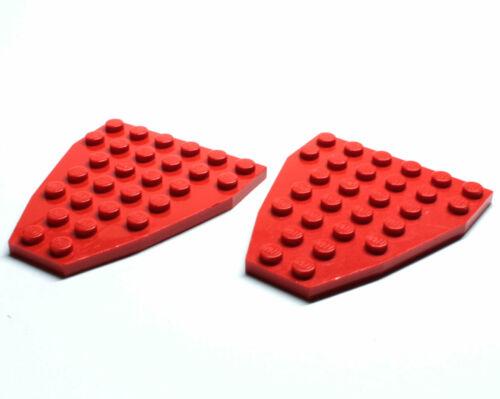 Lego ® 2x keilplatte bugplatte 7 x 6 ROUGE 2625
