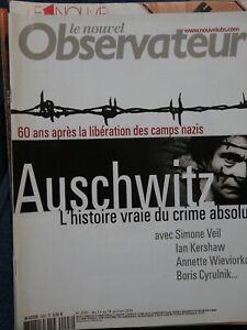 NOUVEL-OBSERVATEUR-N-2097-2005-AUSCHWITZ-HISTOIRE-VRAIE-LA-FACE-CACHEE-DE-L-039-OM