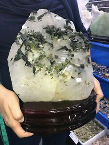 Wonderful-HEALING-CRYSTAL-with-EPIDOTE-10-7-Kg-23-Lbs-ALL-OFFERS-WELCOME
