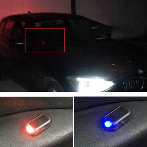 Fake Solar Car Alarm LED Lights Security Warning Theft Automatic Flash Blinking