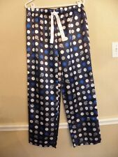 Dallas Cowboys Silky Pajama Lounge Pants Bottoms Womens Medium Blue Gray Helmets