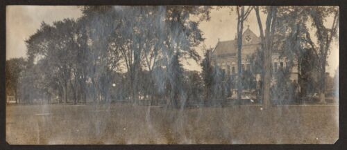 1907 SPEAR LIBRARY Oberlin College Vintage Panoramic Photo