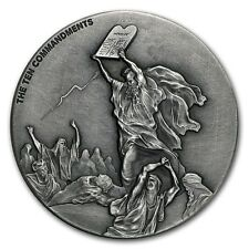 Biblical Series 2015 Niue Ten Commandments 2 oz Silver Coin w// COA /& packaging