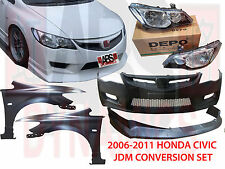 2006 2011 Honda Civic FD2 Type R Conversion Set Bumper Hood Lip Fenders Lights