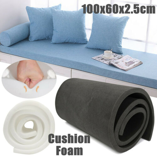 40/'/'x24/'/'x1/'/' High Density Seat Foam Cushion Replacement Upholstery Firm  UK TI