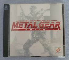 METAL GEAR SOLID - PC CD ROM 2 Disc Video Game - Excellent Condition