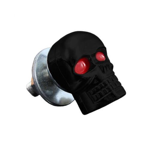 Lot de 2 Boulon Tête de mort noir pour plaque d/'immatriculation vis moto