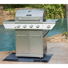 Stainless Steel Gas BBQ Grill 4Burner Propane Freestanding Outdoor Barbecue Cart