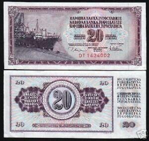 P 88a P88a YUGOSLAVIA UNC 20 DINARA 1978 BUNDLE LOT 100 Banknotes Notes