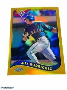 🔥 2002 • Alex Rodriguez • Topps Chrome Gold Refractor • 640 Sp Texas Rangers