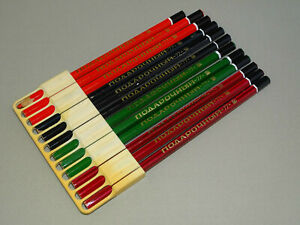 120 Vintage /& Rare 1980/'s Russian Pencils Konstruktor Soviet pencils USSR