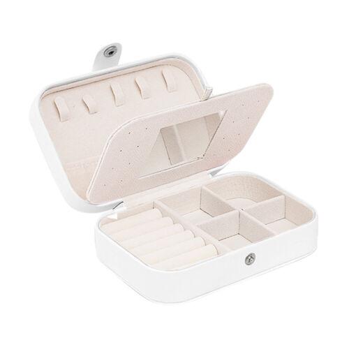 Wear Jewellery Organiser Small Travel PU Leather Jewelry Storage Case Gift Box