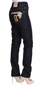 Bleu coton en à W26 It40 Jeans Denim sequins coupe Jean Galliano 360 Nwt classique nqYwAag0Ix
