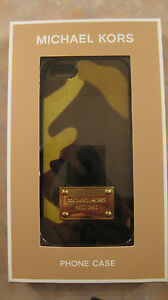 NWT-50-MICHAEL-KORS-Signature-iPhone-5-5s-Hair-Calf-Cover-Camo-Camouflage