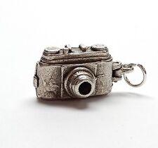 Vintage 925 Sterling Silver OLD CAMERA OPENS TO BIRD Bracelet Charm 3.6g