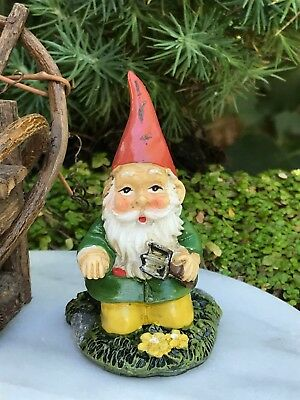 Miniature Dollhouse FAIRY GARDEN Accessories ~ Mini Gardening Gnome Welcome Sign