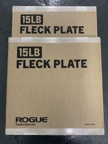 FAST SHIP Set of 2 ROGUE Fleck Bumper Plates 15 LB PAIR 30 LB Total