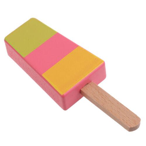 Wooden Pan// Fish// Sundae// Popsicle Pretend Play Kitchen Food Toy Preschool Kids