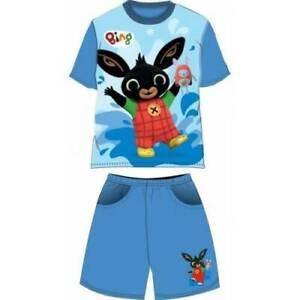 Bing Bunny Meninos Cbeebies Shorts Camiseta Verão Conjuntos Novos