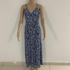 Michael-Kors-Blue-Flower-Maxi-Dress-Size-6-Perfect-Condition