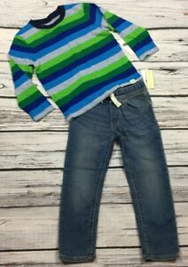 cac99825f Details about Baby Gap Boys 4 / 4T Striped Shirt & Medium Wash Ultra Wash  Denim Jeans. Nwt