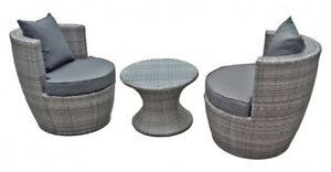 Clubsessel Club Set Sessel Balkonmobel Sitzgruppe Lounge Stuhl Tisch