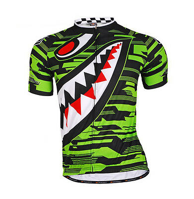 Green Men Cycling Jersey Bicycle Breathable Top Bike Clothing T-shirt Cycle Gear