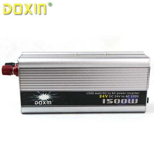 Pico de salida 1500W coche camión 24V a 220V inversor de potencia Convertidor Adaptador doxin