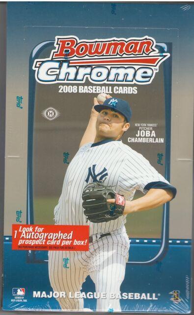 2008 Bowman Chrome Hobby Box fresh from case Free Shipping! Jake Arrieta RC!