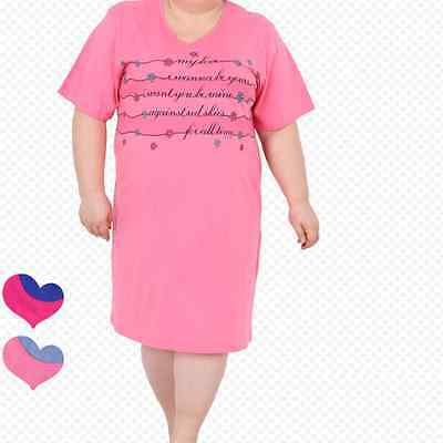 Beautiful Ladies Womens Nightdress Uk Size 14 16 18 20 22 Pink Size Plus