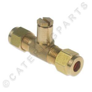 T Stuck Pruf Nipple Gasdruck Test 6mm Klemmverschraubung Kupferrohr
