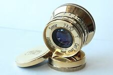 Sonnar Carl Zeiss Jena gold 2.8/52mm M39 lens for Leica ( replica ) VERY NICE+++