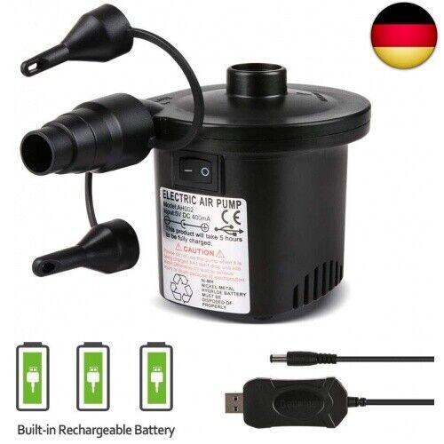 2 in 1 Electric Pump Power Deeplee Electric Air Pump USB Air Mattress Pump