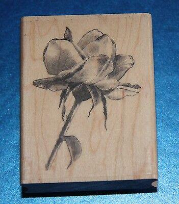 NEW Inkadinkado 'Rose' Wooden Backed Rubber Stamp 98181LL