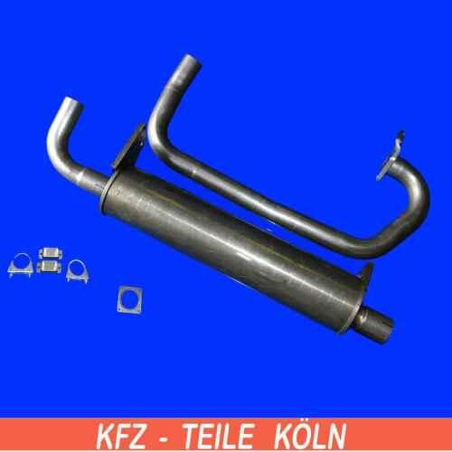 In acciaio INOX VW Transporter t3 1.6 TD endschalldämpfer tubo gas di scarico fino a anno 07.1989