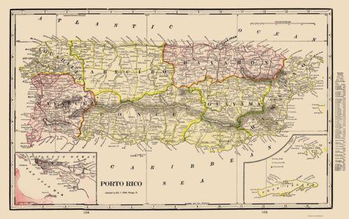 Puerto Rico Cram 1898-23.00 x 36.57