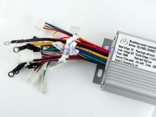 72V 1000W Electric Bicycle Brushless Speed Motor Controller For E-bike /& Scooter