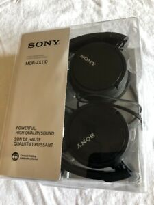 Sony-MDR-ZX110-Stereo-Monitor-Over-Head-Headphones-Black-MDRZX110-Fast-Ship