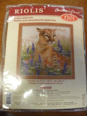 RIOLIS  1361  COUGAR  COUNTED CROSS STITCH KIT