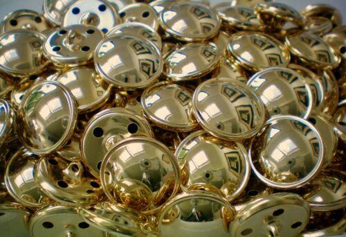 XM80A-D 15mm 18mm 20mm 23mm Gold Effect Metal Shank Coat Lightweight Buttons x