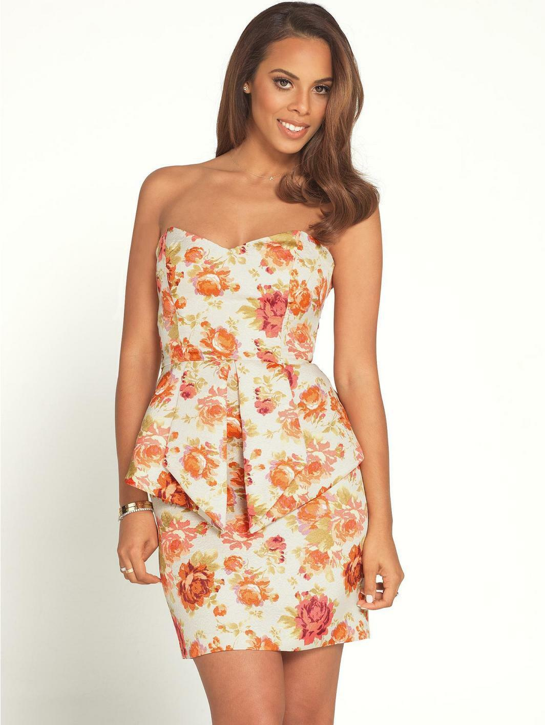 BNWT ROCHELLE HUMES FLORAL JACQUARD PEPLUM  DRESS  SIZE 12 RRP