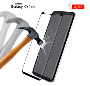 2-x-Tempered-Glass-Screen-Protector-3D-Case-Friendly-For-Samsung-Galaxy-S9-Plus