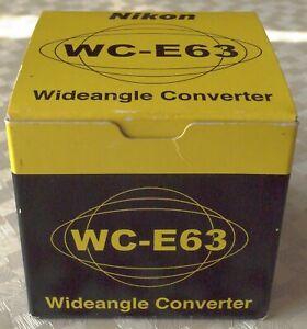 Wide Converter Nikon WC-E63 0,63X for Nikon 4500 & 5000 Digital Cameras