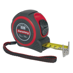 SMT5H-Sealey-Heavy-Duty-Measuring-Tape-5mtr-16-ft-environ-4-88-m-Mesurage